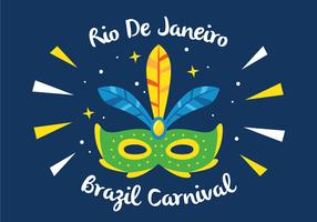 Mask Of Rio Carnival vector