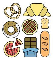 Linear Bakery Icons