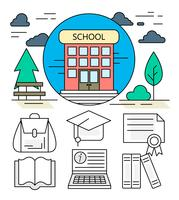 Linear School Icons