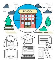 Iconos de la escuela lineal
