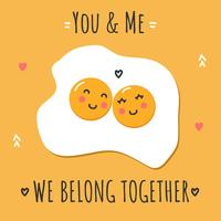 You & Me Vector