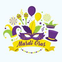 Mardi Gras Parade Vector Illustration