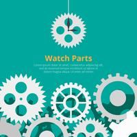 Watch Parts Vector Background