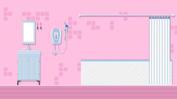 Chauffe-eau dans le vecteur gratuit de salle de bain