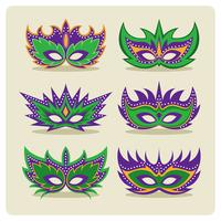 mardi gras masker vector