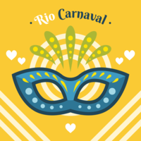 Vector de máscara de carnaval de rio
