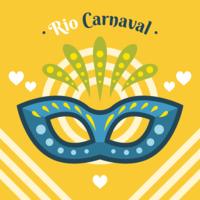 Vecteur masque carnaval de rio