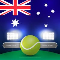 Australische Tennis-Meisterschaft-Säulengang-Illustration