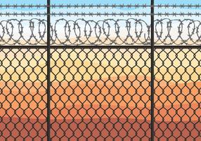 Razor Wire Vector Illustration