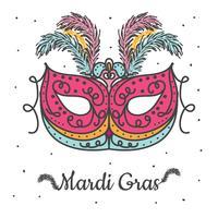 Vecteur de masque de Mardi Gras