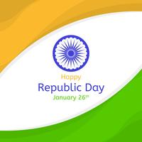 Flacher Tag der Republik-Vektor-Hintergrund