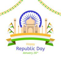 Flache Tag der Republik Vektor Hintergrund