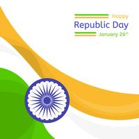 Flat Republic Day Vector Background