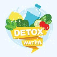 Detox Wasser Vektor