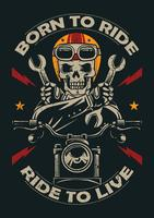 Emblème de moto vintage
