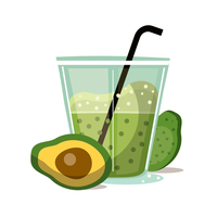 Avocado Smoothie vector
