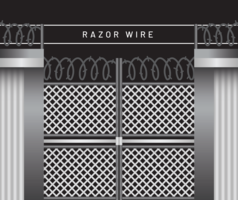 Clôture de fil de rasoir