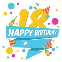 18 Birthday Party Background vector