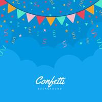 Confetti Vector Background
