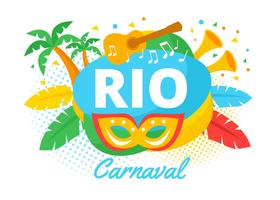 Rio Carnaval Background vector