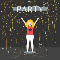 Confetti Party Vector