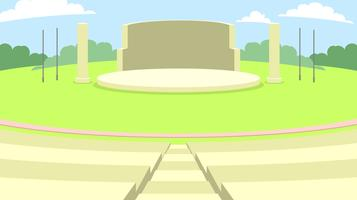 Utomhus Amphitheater Gratis Vector