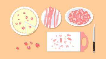 Rhubarb And Strawberry Pie Free Vector