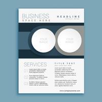 modelo de design de brochura de negócios com espaço para sua imagem