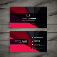 black and red business card template vector design illustration