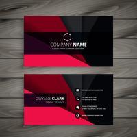 svart och rött visitkort mall vektor design illustration