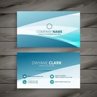 wave business card template vector design illustration