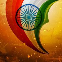 Vektor-Designillustration der alten indischen Flagge kreative