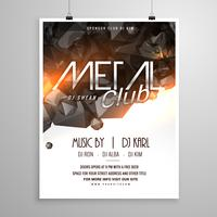 metallklubbmusik party flyer affisch