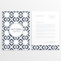 abstract leaflet template with pattern shape