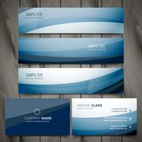 blue business banners and cards vector design