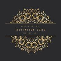 carte floral d'invitation vintage