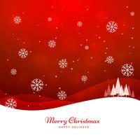 feliz natal saudação vermelha