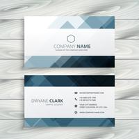abstract shapes business card template vector design illustratio