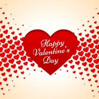 valentines day heartbackground vector design illustration