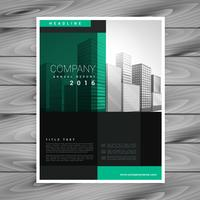 design de modelo de cartaz de brochura de empresa escura em forma geométrica
