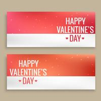 happy valentines day banners vector design illustration