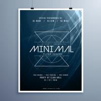 minimal elegant music flyer template in blue color with abstract