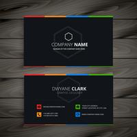 dark company business card vector design illustration