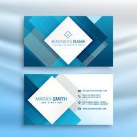 blue abstract business card modern template