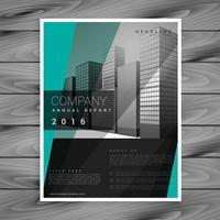 conception de vecteur de brochure entreprise sombre avec des formes géométriques verts