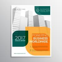 modernt varumärke broschyr layout mall med färgstarka abstrakta sha