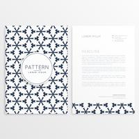 brevpapper fram och bak design