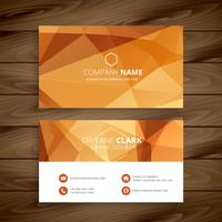 abstract orange business card. Business vector design illustrati