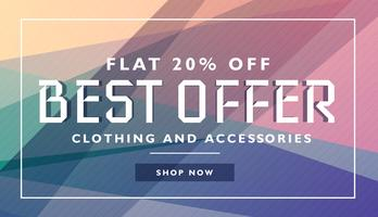 biggest offer sale discount deal banner template