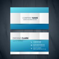 clean modern business card vector design